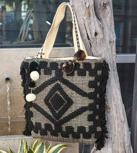 Boho Chic Woven Summer Tote