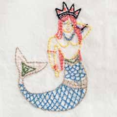 Embroidered Mermaid Pajamas