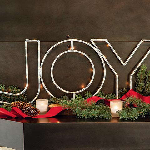 """Joy"" Lit Sign"