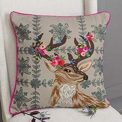 Le Fleur Deer Pillow
