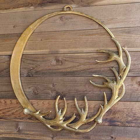 Gilt Antler Wreath