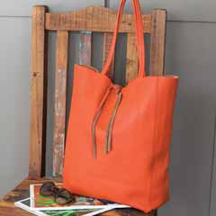 Persimmon Italian Leather Tote