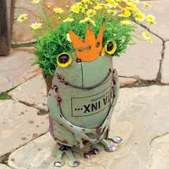 Royal Frog Planter