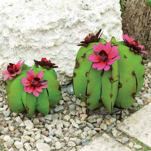 Barrel Cactus Sculptures