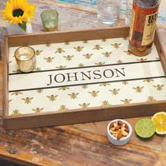 Golden Bee Personalized Tray
