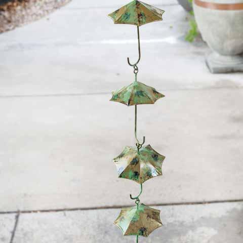 Rustic Umbrella Rain Chain