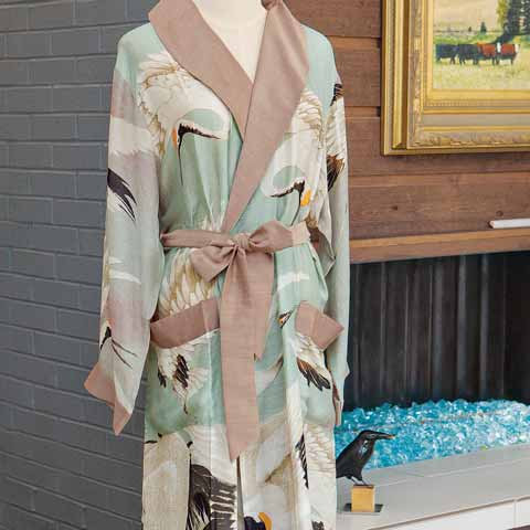 Crowned Crane Robe