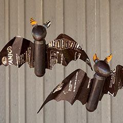 Reclaimed Metal Flying Bat