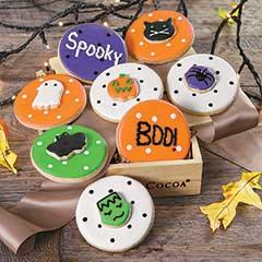 Halloween Polka Dot Cookies