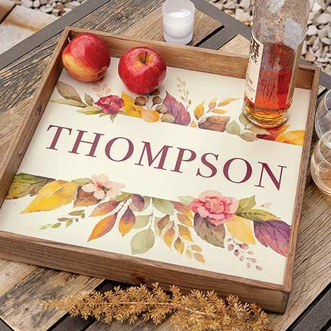 Foliage Personalized Tray