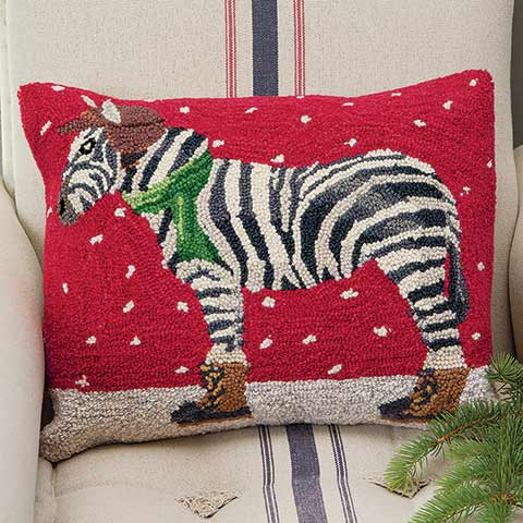 Snowdrift Zebra Pillow