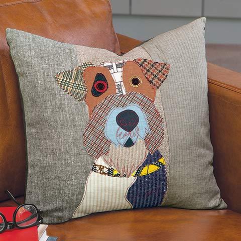Patches Fox Terrier Pillow
