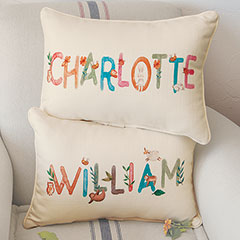 Personalized Name Pillow - Personalized Name Pillow, Branches & Critters
