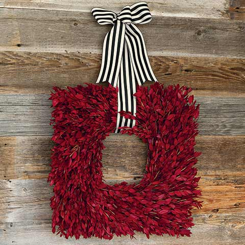 Crimson Myrtle Wreath
