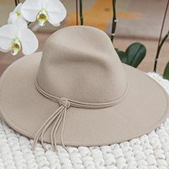 Torrey Taupe Felt Hat