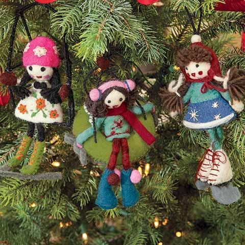 Winter Fun Felt Ornaments