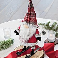 Skiing Santa Gnome