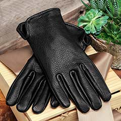Men's Black Deerskin Gloves