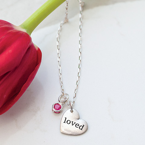 """Loved"" Garnet Necklace"