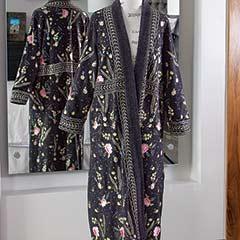 Vienna Embroidered Wool Kimono