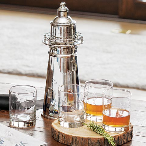 Lighthouse Shaker & Glasses