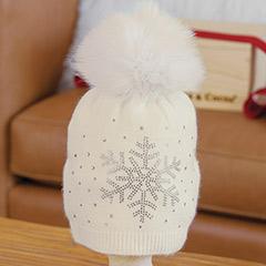 Crystal Snowflake Hat