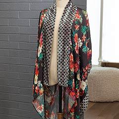 Aria Velvet Floral Kimono