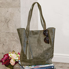 Graphite Leather Tote