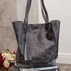 Graphite Leather Tote
