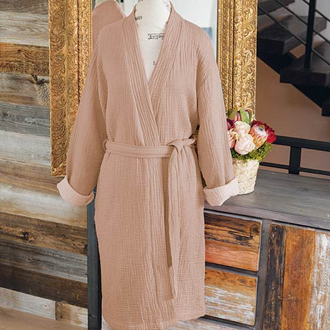 Rosy Ruched Robe