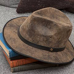 Henry Leather Hat