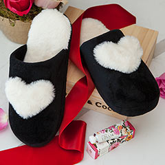 Fuzzy Heart Slippers Crate