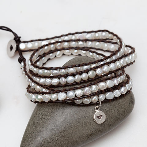Boho Pearl Wrap Bracelet