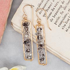 Golden Column Earrings