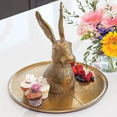 Gilded Hare Platter