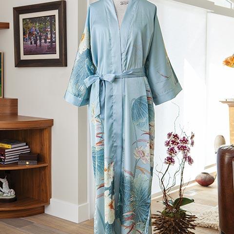 Blue Lotus Kimono