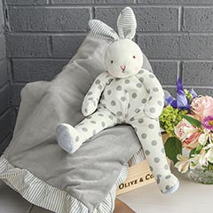 Dotted Bunny & Blankie