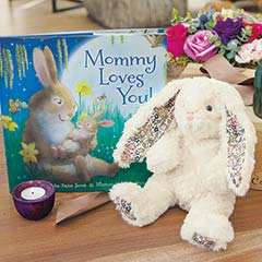"""Mommy Loves You"" Bunny & Storybook"