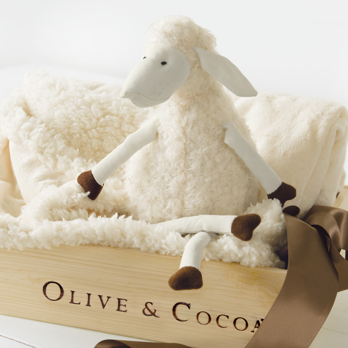 Lulu Lamb & Blankie, All Gifts: Olive & Cocoa