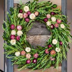 Straw Flower Wreath