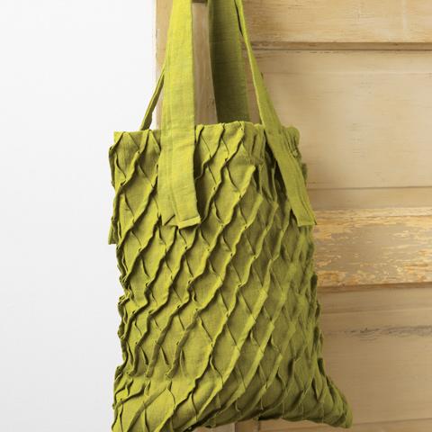 Flax Linen Ruffle Bag