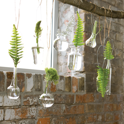 Foliage Hanging Vases All Gifts Olive Cocoa