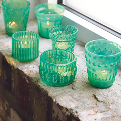 Verre Turquoise Tealights