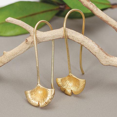 Gingko Leaf Earrings