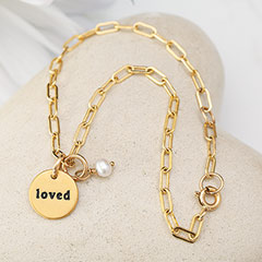 """Loved"" Chain Bracelet"