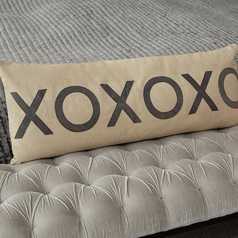 Hugs & Kisses Canvas Pillow