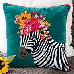 Zebra Miranda Pillow