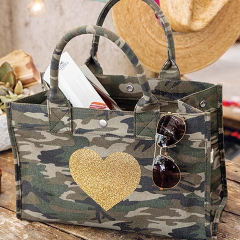 Heart Of Gold Camo Bag