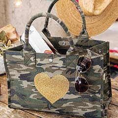 Heart Of Gold Camo Bag