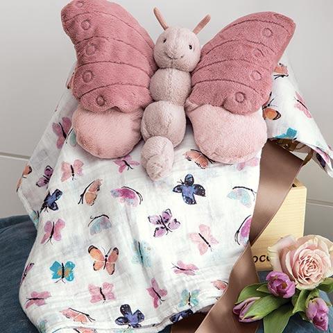 Pink Papillon & Swaddle
